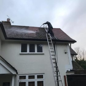 Roof cleaning on a house in Uxbridge