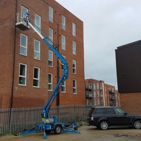High access gutter cleaning and repairs on residentialbuilding