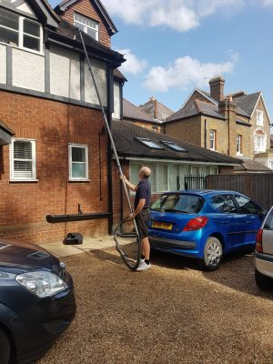 Cleaning and repairing gutters on domestic properties for clients in Surrey