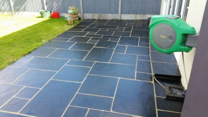 After sealing a patio for a domestic property.