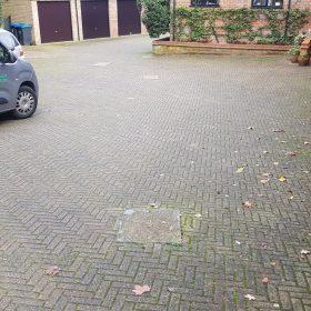 Before pressure washing driveway