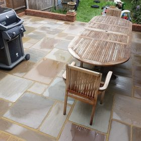 After pressure washing garden furniture
