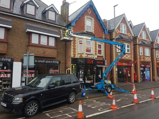 High Level Gutter Works for Commercial Shops in Stainash Parade
