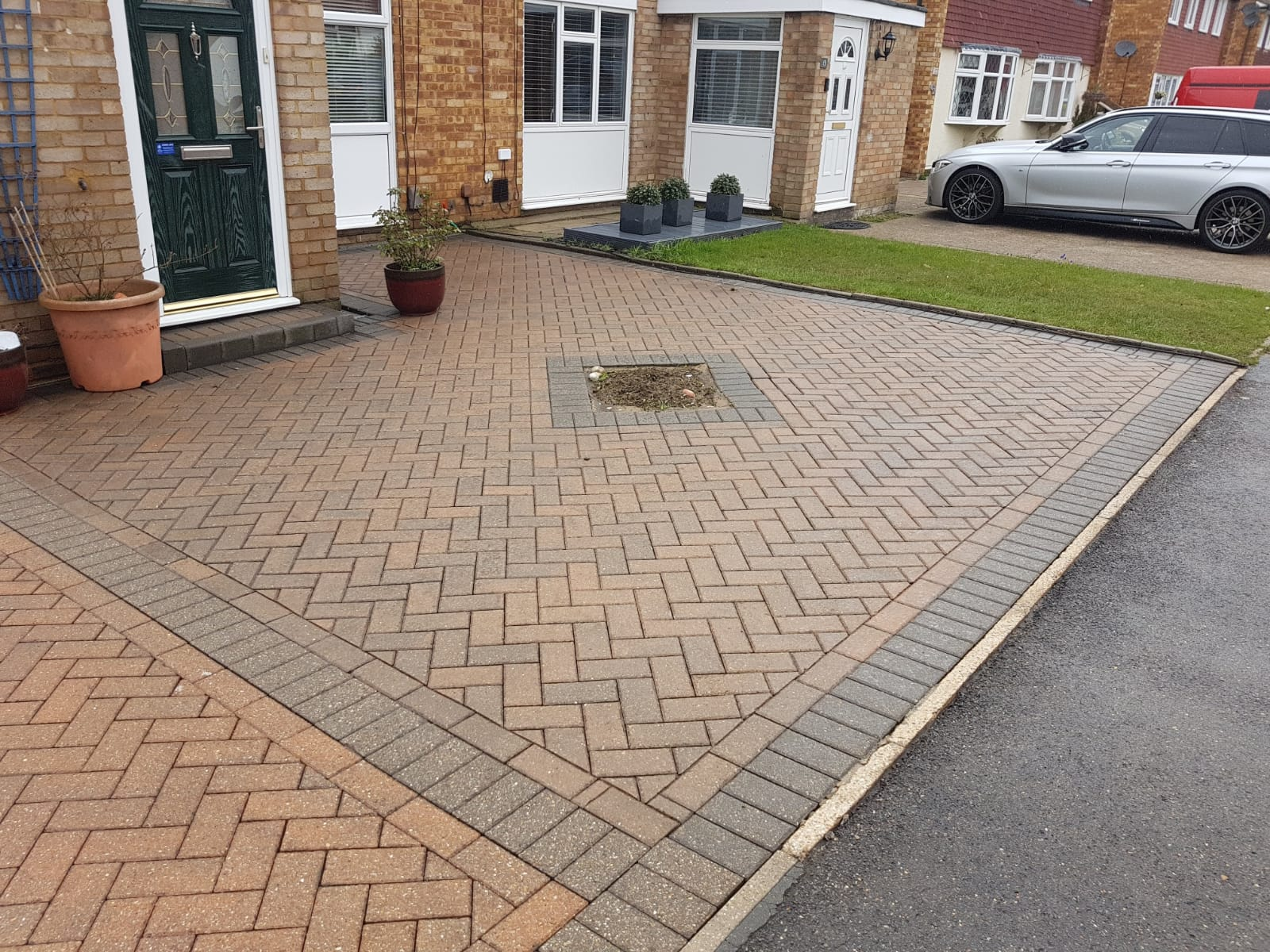 After jet washing clean in ashford driveway