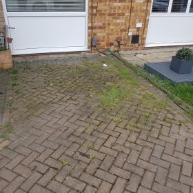 before jetwashing ashford driveway front