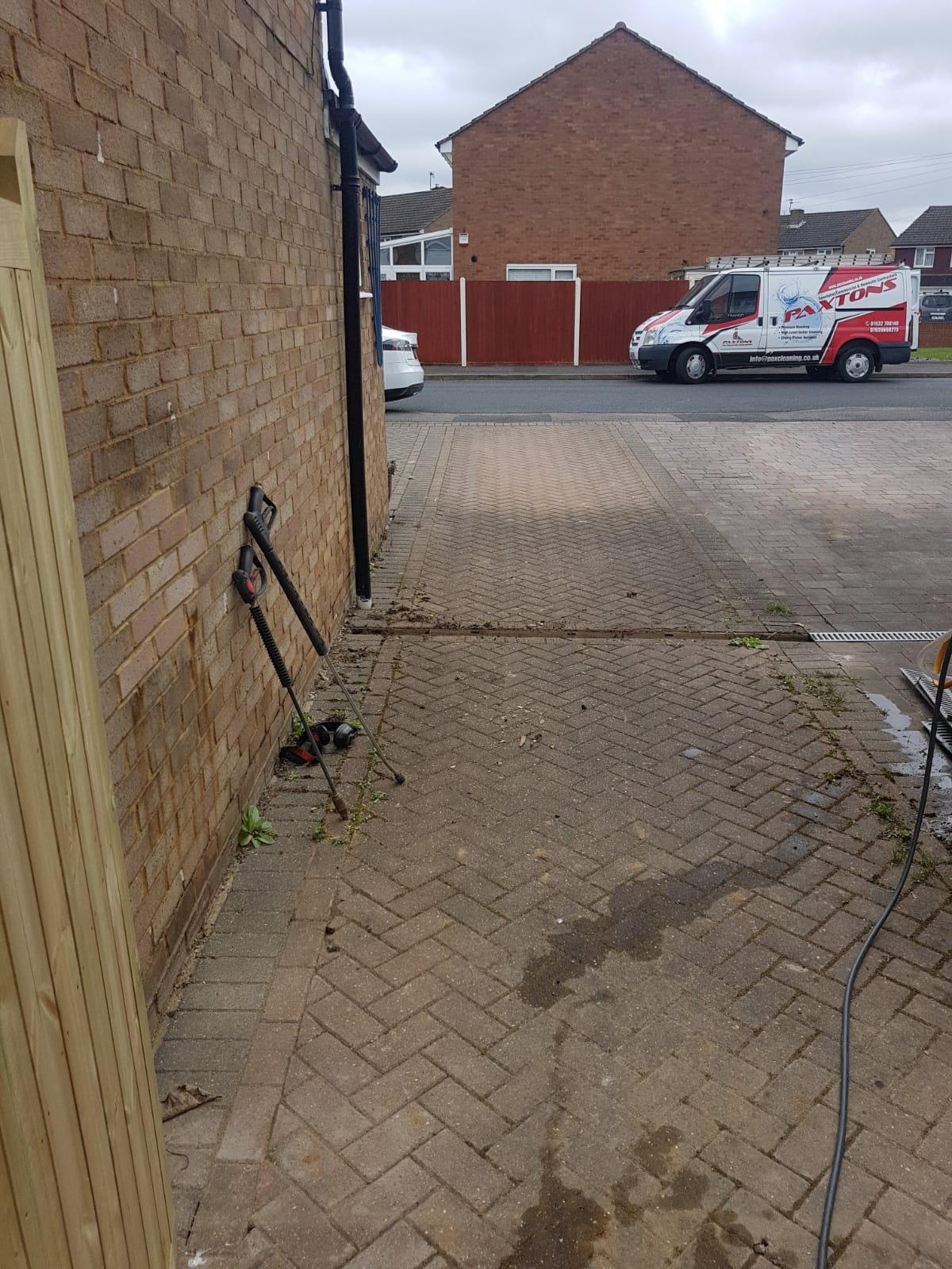 before jetwashing ashford driveway